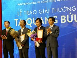 9 đề cử Giải thưởng Tạ Quang Bửu năm 2018