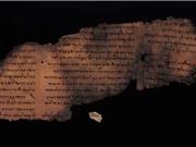 """Văn bản ẩn giấu trên bộ bản thảo """"Kinh thánh Biển Chết"""""""