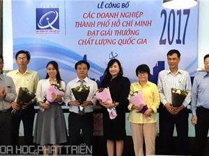 Sở KH&CN TPHCM tôn vinh các doanh nghiệp đạt Giải thưởng Chất lượng Quốc gia 2017