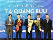 Trao giải thưởng Tạ Quang Bửu 2018