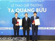 Diễn từ của ba nhà khoa học đoạt giải Tạ Quang Bửu 2018