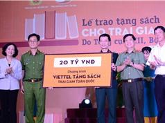 Viettel tặng 1.400 đầu sách trị giá 20 tỷ cho các trại giam