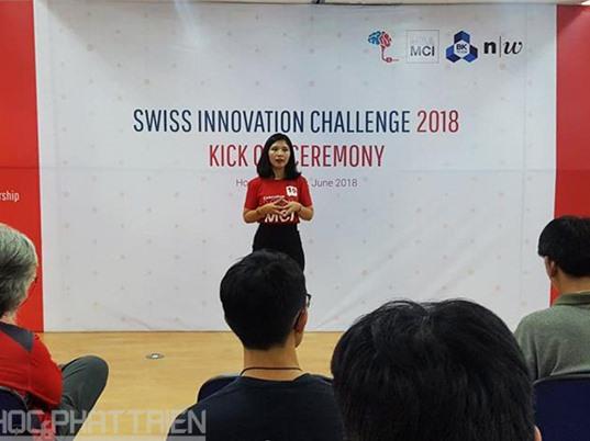 Swiss Innovation Challenge 2018: Viết, thuyết trình và bảo vệ dự án hoàn toàn bằng tiếng Anh