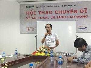 Khu CNC Hòa Lạc tổ chức đào tạo an toàn, vệ sinh lao động cho nhân viên