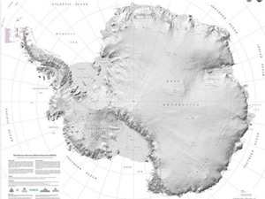 Công bố bản đồ chính xác nhất của Nam Cực