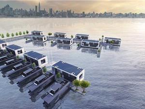 Thiết kế nhà nổi có thể chịu được bão mạnh