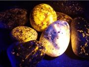 Loại đá kỳ lạ phát sáng dưới tia cực tím