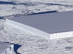 Tìm thấy một tảng băng trôi hình chữ nhật ở Nam Cực