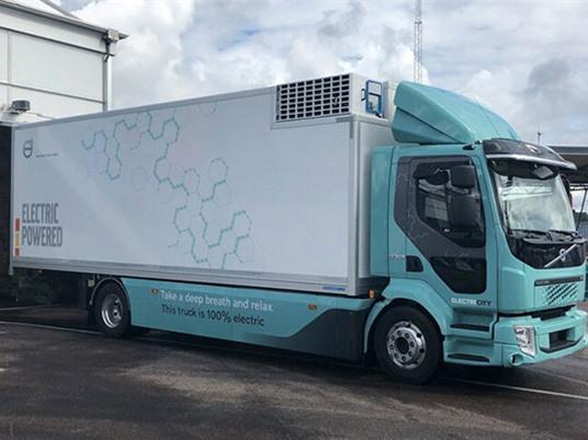 Xe tải gom rác chạy điện của Volvo