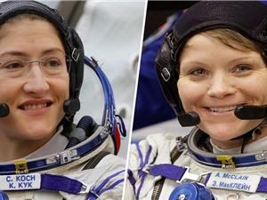 Lần đầu tiên nhóm du hành vũ trụ chỉ gồm hai nữ phi hành gia