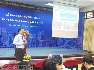 Đại học Bách khoa TPHCM công bố Chương trình Thạc sĩ Chất lượng cao