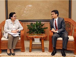 Phó Thủ tướng tiếp lãnh đạo Cơ quan Năng lượng nguyên tử quốc tế