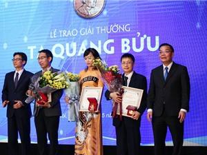 Tôn vinh ba nhà khoa học nhận giải thưởng Tạ Quang Bửu 2019