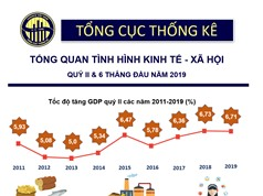 [Infographic] Tình hình kinh tế - xã hội 6 tháng đầu năm qua các con số