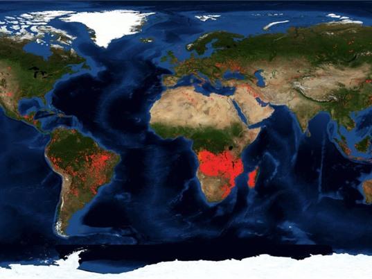 Khu vực châu Phi hạ Sahara cháy nhiều hơn Brazil, nhưng khác về bản chất