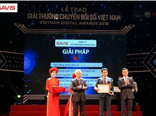 Giải thưởng Chuyển đổi số Việt Nam 2019: SAVIS giành giải với ba bộ giải pháp