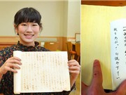 Sử dụng mực vô hình của Ninja để viết luận, cô gái trẻ được giáo viên chấm điểm tuyệt đối