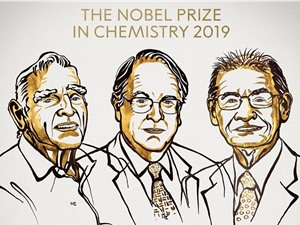 Giải Nobel Hóa học vinh danh pin làm thay đổi thế giới