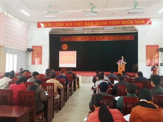 """Hội nghị tuyên truyền và vận động các hộ dân tham gia dự án xây dựng, quản lý và phát triển nhãn hiệu tập thể """"Vịt cỏ Trùng Khánh"""""""