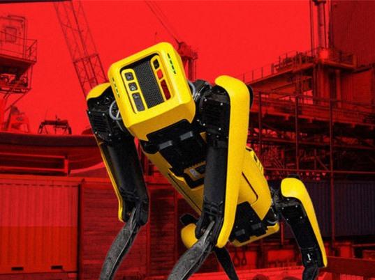 Robot chó của Boston Dynamics làm việc trên các giàn khoan