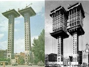 Tòa nhà xây ngược từ trên xuống dưới