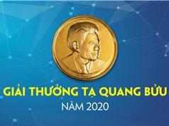 Giải thưởng Tạ Quang Bửu năm 2020