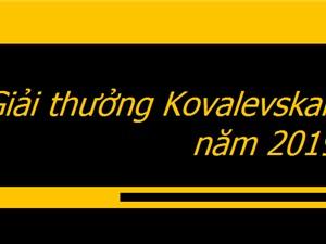 Một tập thể và một cá nhân đoạt Giải thưởng Kovalevskaia