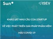 Khảo sát nhu cầu để hỗ trợ nhân sự cho các startup phát triển phần mềm hậu Covid-19