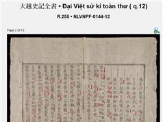Niên biểu lịch sử Việt Nam không thể chỉ dựa trên một bộ sử