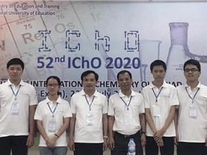 Cả 4 thí sinh Việt Nam đều giành HCV Olympic Hoá học quốc tế