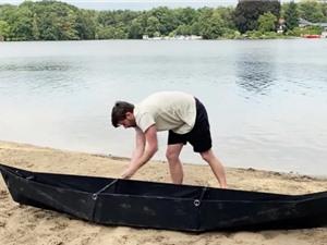 Thuyền kayak siêu gọn nhẹ phong cách origami