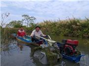 Máy cày phao nổi cho vùng đất ngập nước