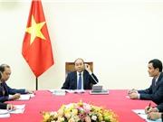 Thủ tướng Nguyễn Xuân Phúc điện đàm với Thủ tướng Nhật Bản Suga Yoshihide