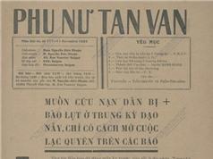 Gần 100 năm trước, người Việt quyên góp ủng hộ đồng bào gặp bão lũ như thế nào