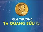 Tiếp nhận hồ sơ xét tặng giải thưởng Tạ Quang Bửu 2021