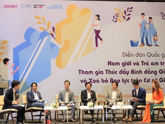Lần đầu tổ chức diễn đàn quốc gia về nam giới tham gia thúc đẩy bình đẳng giới