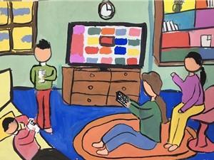 Thế giới internet qua nét vẽ trẻ thơ