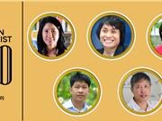 5 người Việt trong danh sách 100 nhà khoa học xuất sắc nhất Châu Á của tạp chí Asian Scientist