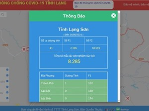 Lạng Sơn ra mắt bản đồ COVID-19, theo dõi tình hình dịch theo thời gian thực