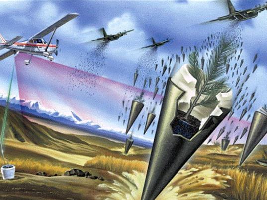 Moshe Alamaro: Trồng rừng từ trên không