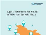 5 gợi ý chính sách kiểm soát bụi mịn PM 2.5 cho Hà Nội
