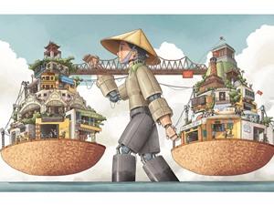 """5 tác phẩm thắng giải tại cuộc thi vẽ """"Hà Nội là..."""""""