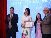 Công bố Giải thưởng báo chí về KH&CN năm 2020